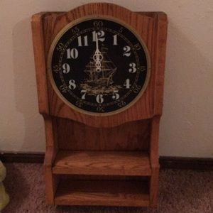 Other - Solid Oak Ship Clock runs on battery